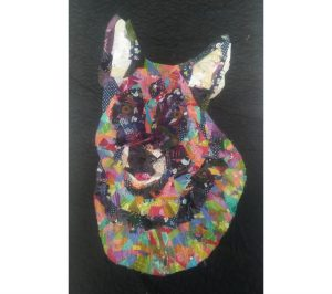Fabric Collage - Dog