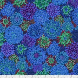 Kaffe Fassett Collective - Dancing Dahlias - Blue