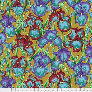Kaffe Fassett Collective - Bearded Iris - Ochre