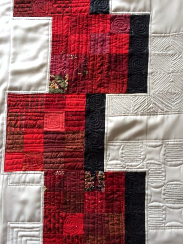 Sweet 16 partial quilting