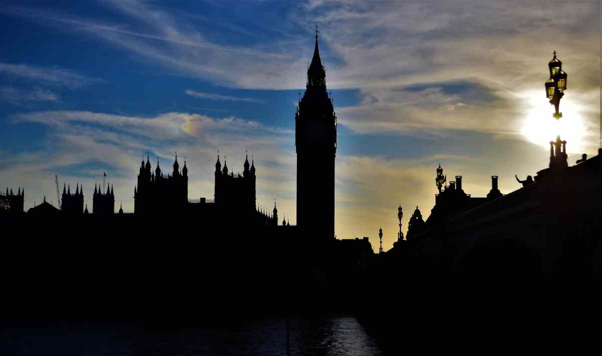 Photo POSTcard: Sun sets on London