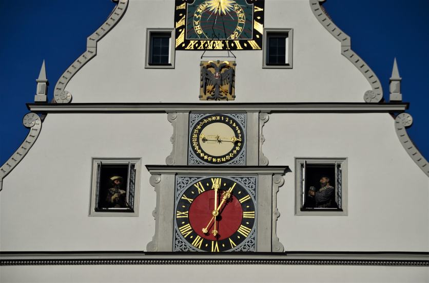 Council Drinking House with the clock's moving figures