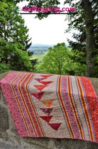 """Back of """"My Bohemian Princess"""" quilt #quilt #tulapink #girlquilt"""
