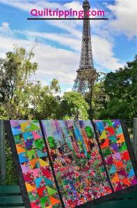 A Paris Eiffel Tower inspired quilt #paris #parisquilt #eiffeltowerquilt