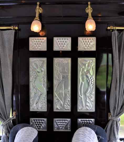 The art deco Lalique glass panels