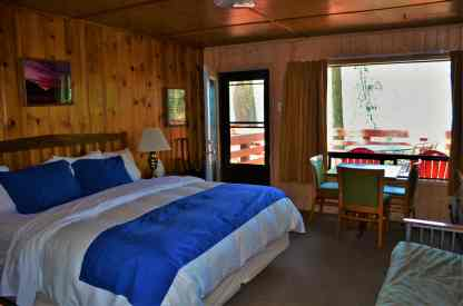 Our room at the North Cascades Lodge at Stehekin