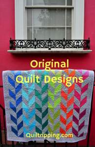 Rainbow herringbone original quilt design