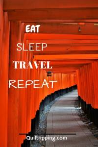 eat, sleep, travel, repeat #fushimiinari #quote #inspirationalquote #kyoto #japan