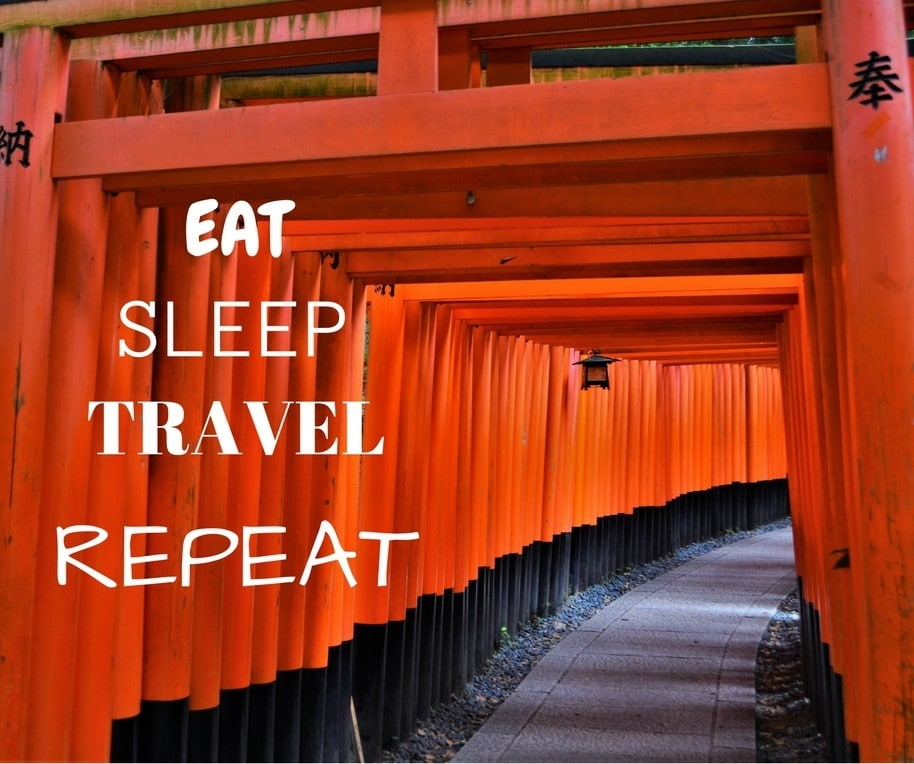 Eat, sleep, travel, repeat @fushimiinari #kyoto #japan