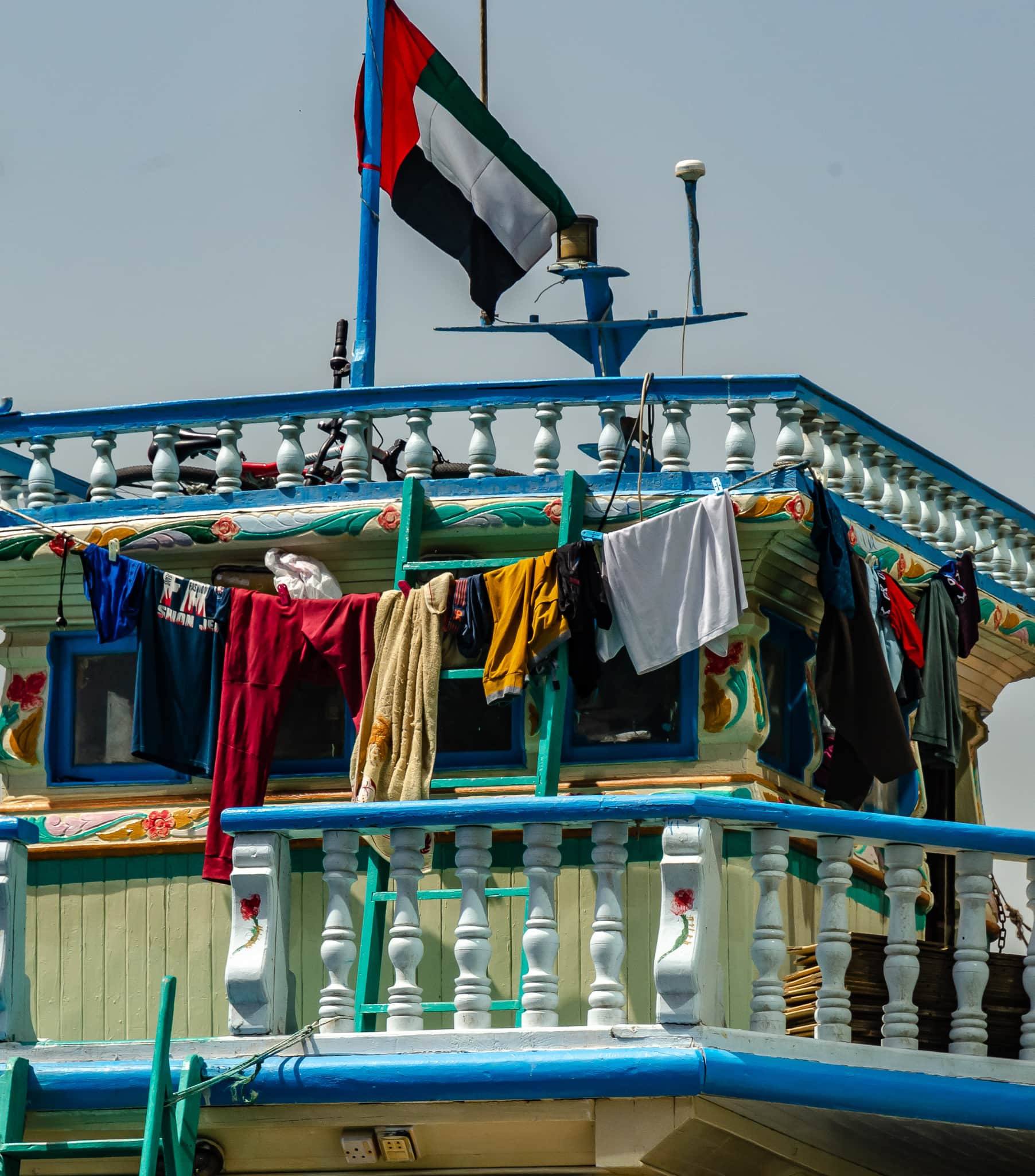 Colorful Dhow on Dubai creek