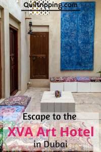 The unique boutique XVA Art hotel is a unique experience in the Dubai's historic Al Fahidi neighborhood  #dubai #boutiquehotel #xvaarthotel