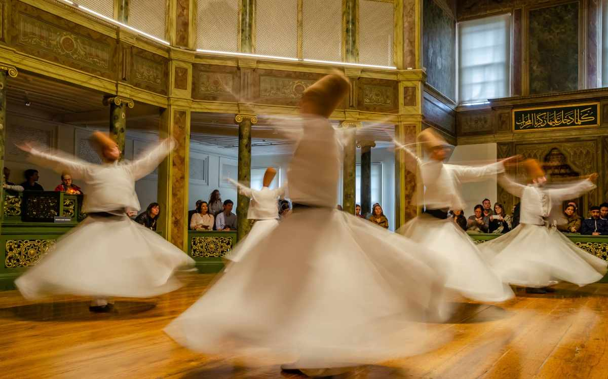 Whirling Dervish in Istanbul at the Mevlana Monastary #istanbul #whirlingdervish #mevlanamonastary