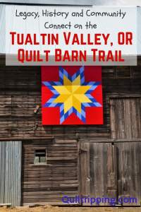 Discover the stories behind the Tualatin Valley OR Quilt Barn Trail #tualatinvalley #oregon #quiltbarntrail