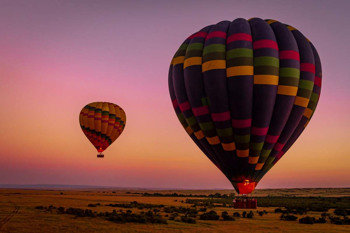 This is Africa: A Hot Air Balloon Ride Over the Maasai Mara