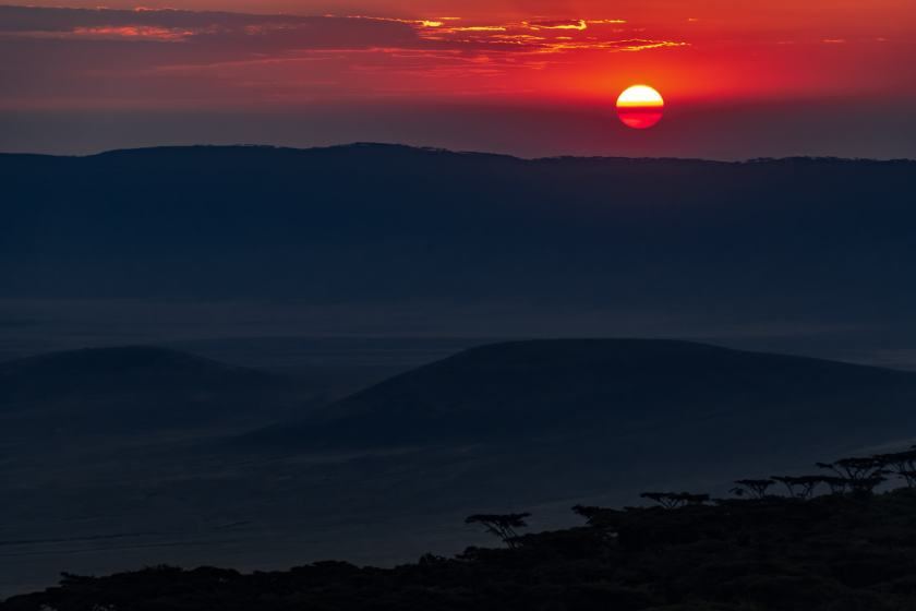 Ngorongoro sunset