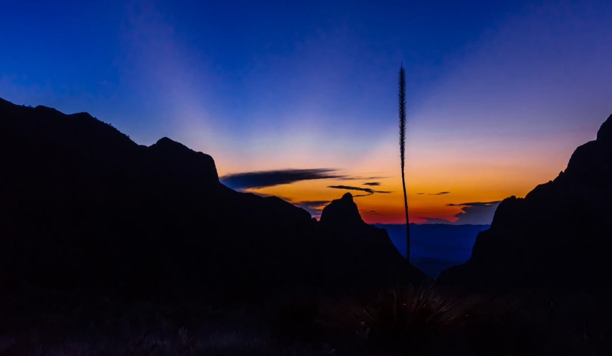 PhotoPOSTcard: A Perfect Big Bend Sunset Windows View