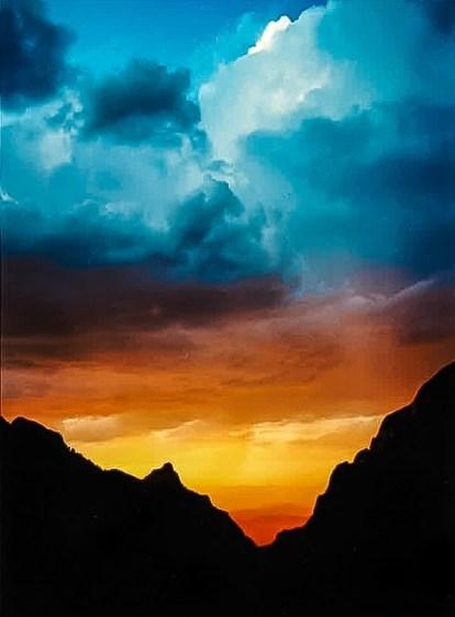 1990 Windows Trail sunset