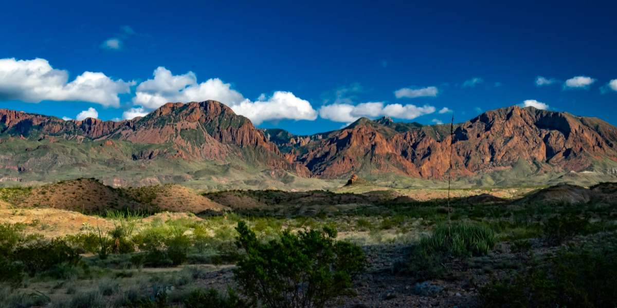 The Chisos Mountain range in Big Bend