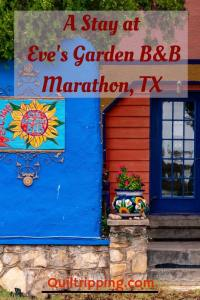 Stay at Eve's Garden B&B in Marathon, TX #evesgarden #texas #marathontexas #b&b