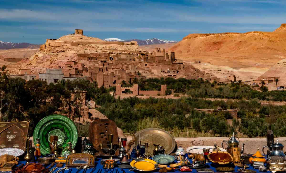 view of Ait Ben Haddou, Morocco