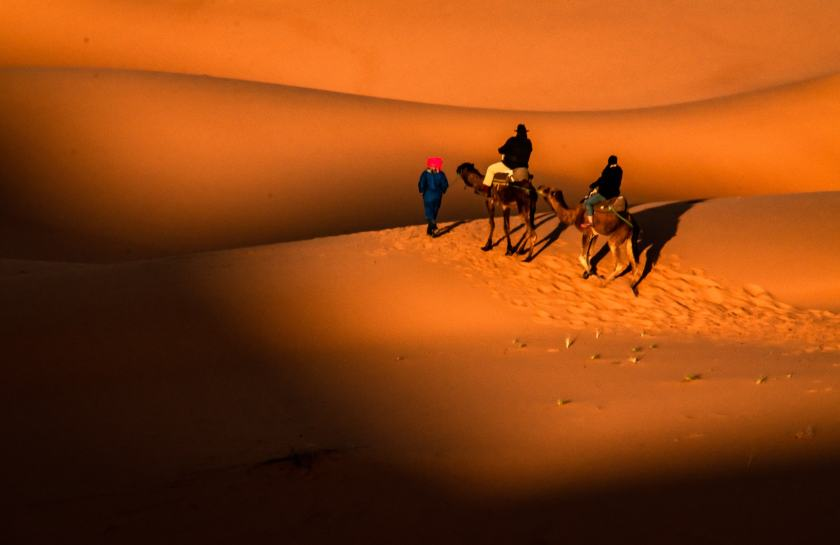 In the Moroccan Sahara Desert