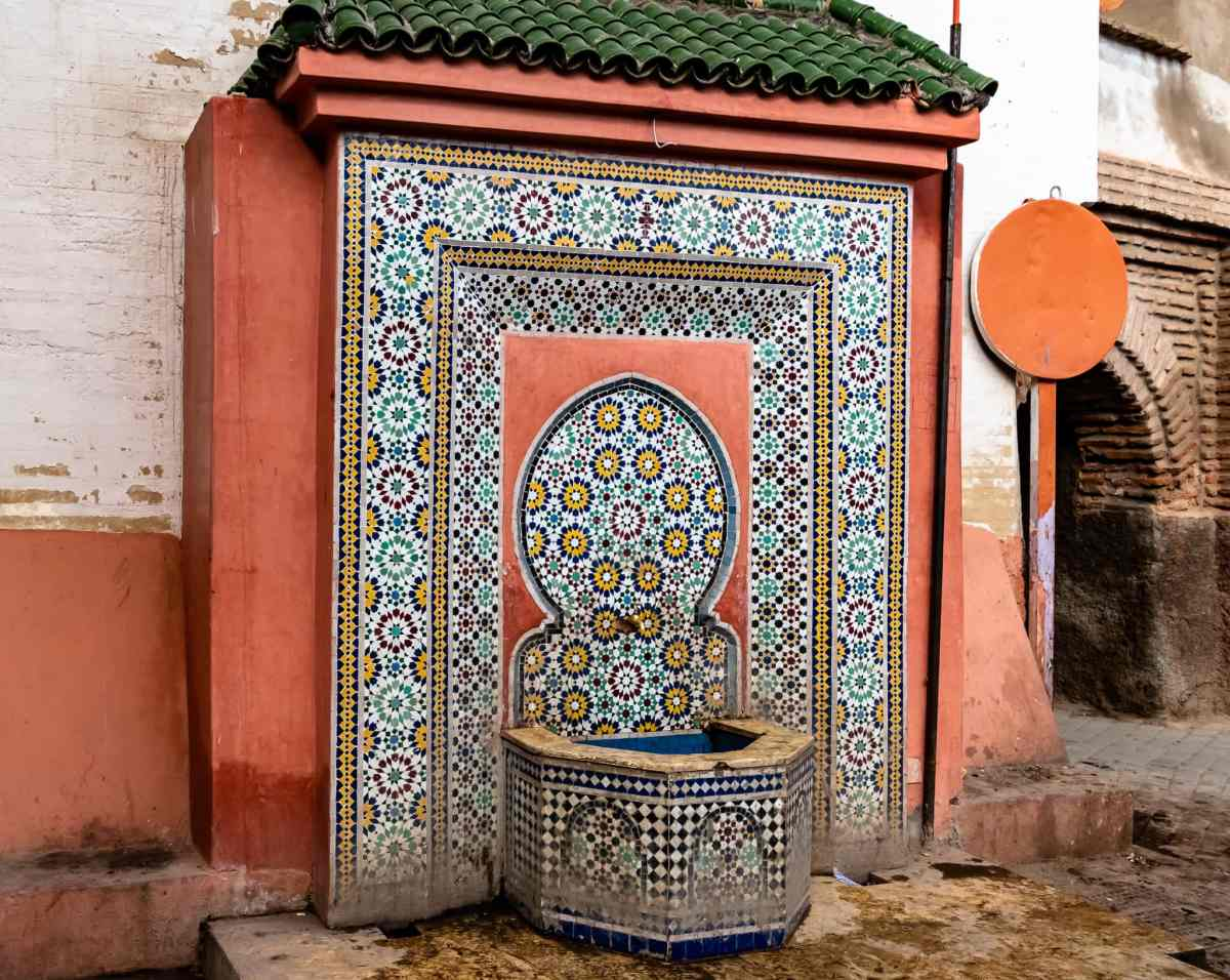 Zellij Tile Fountain Marrakesh