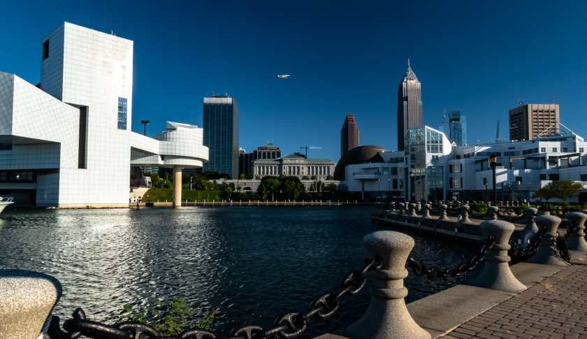 Strolling along Cleveland's lakefront