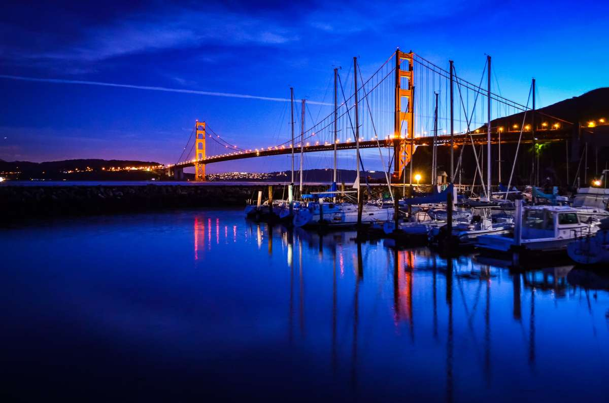 PhotoPOSTcard: Blue Hour Over The Golden Gate