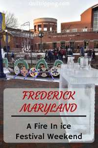 A fun time at the First Saturday Frederick Fire In Ice Festival #frederick #maryland #fireinice