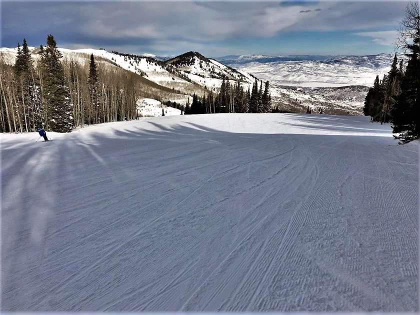 Skiing with amazing views in Park City