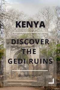 The Gedi Ruins are a little known unique historic site on Kenya's Indian Ocean coast