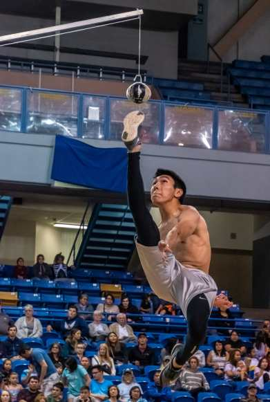 WEIO one foot high kick men's competition