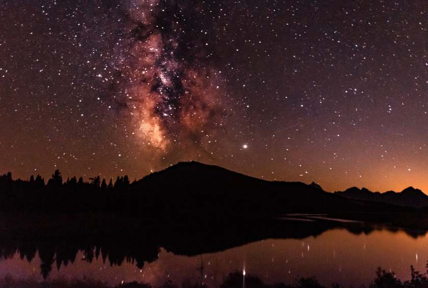 Milky Way over Jackson Lake