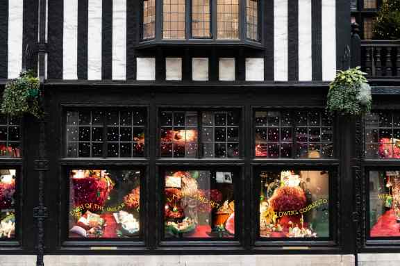 Window displays at Liberty of London