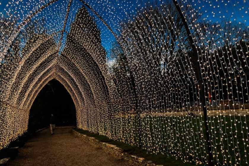 Light Trail at blenheim Palace