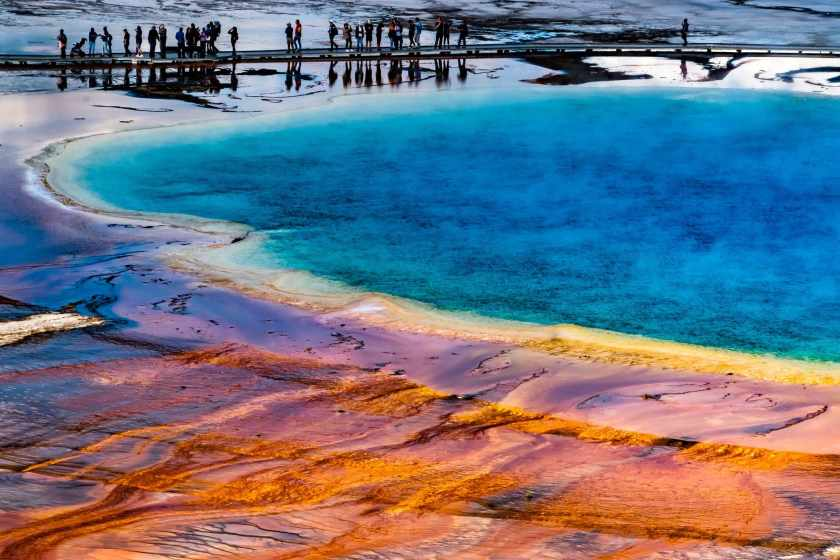 Grand Prismatic Spring in Yellowstone