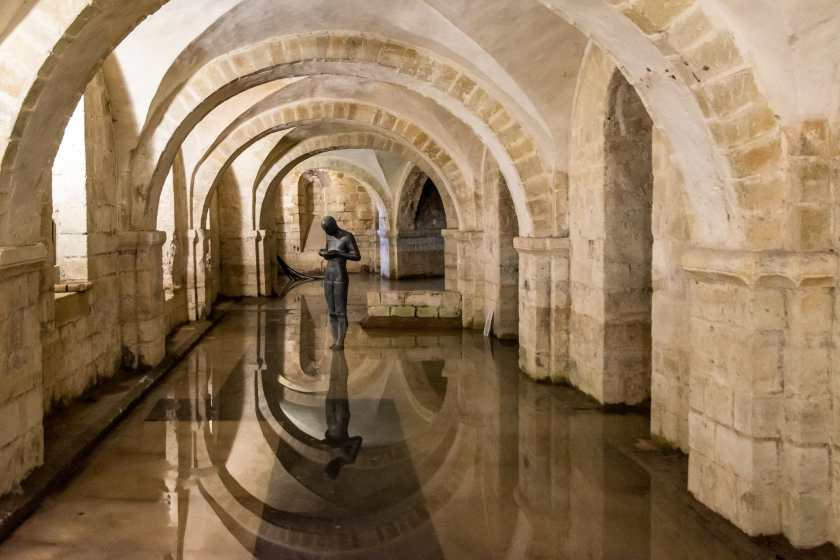 The crypt in the Winchester Cathedral
