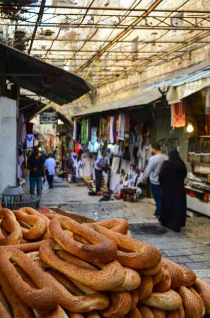 The shops in the streets of the Muslim quarter