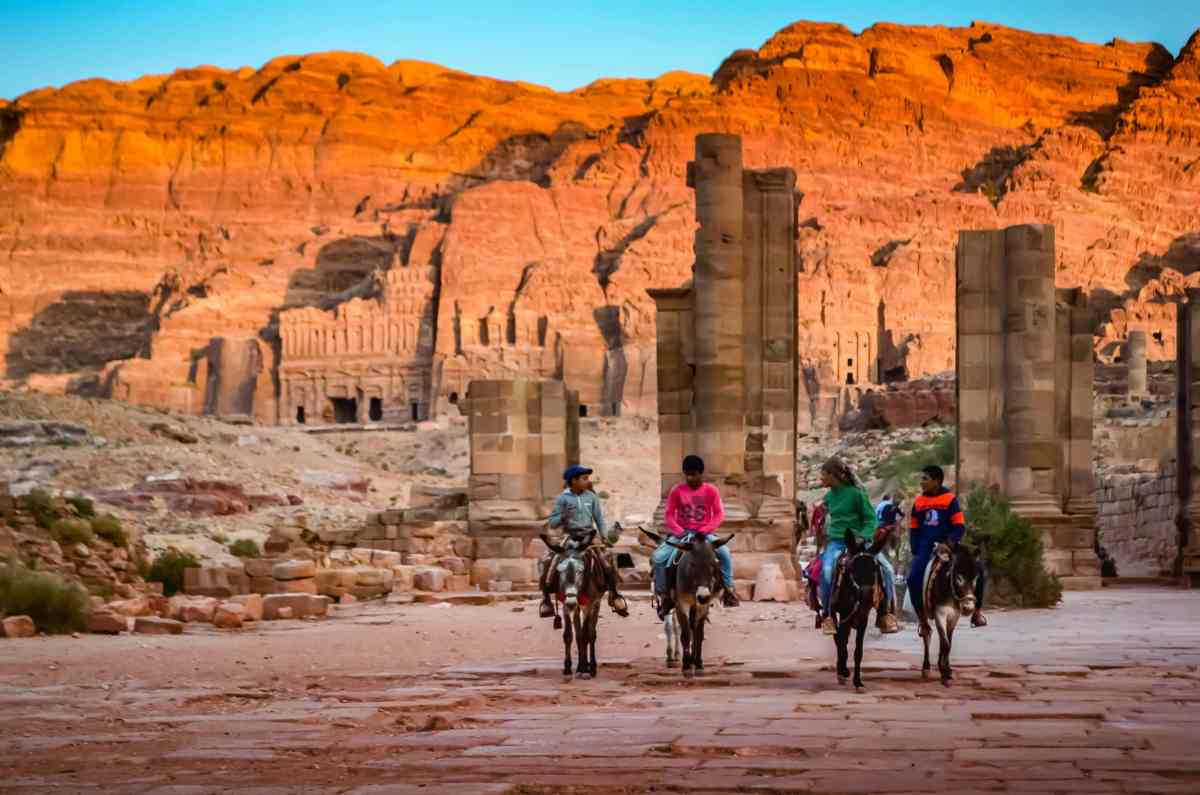 PhotoPOSTcard: The Four Donkey Riders of Petra