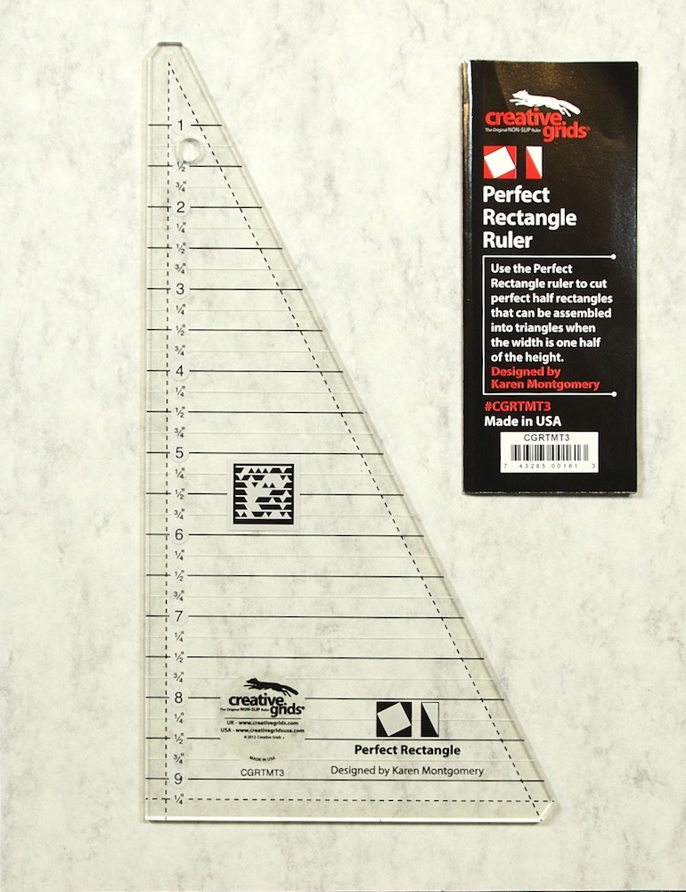The Perfect Rectangle Ruler Makes Half Square Rectangles