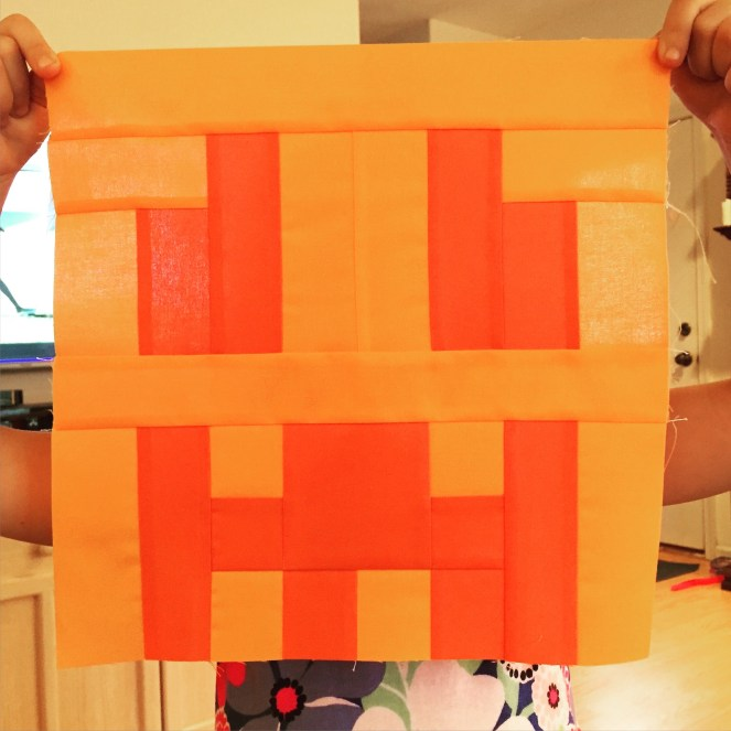 Minecraft Quilt - Block 15 - Snow Golem