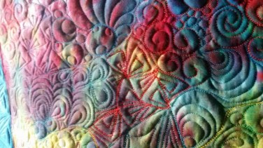 Graffiti Quilted Table runner