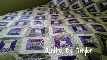 Modern Patchwork Quilt for Sale