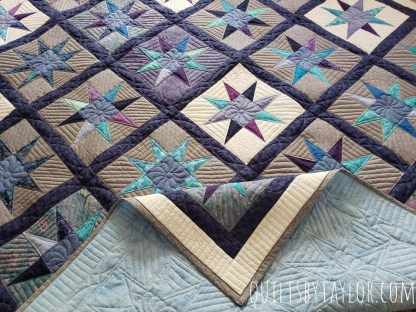 Star Quilt for Sale, Grey Quilt
