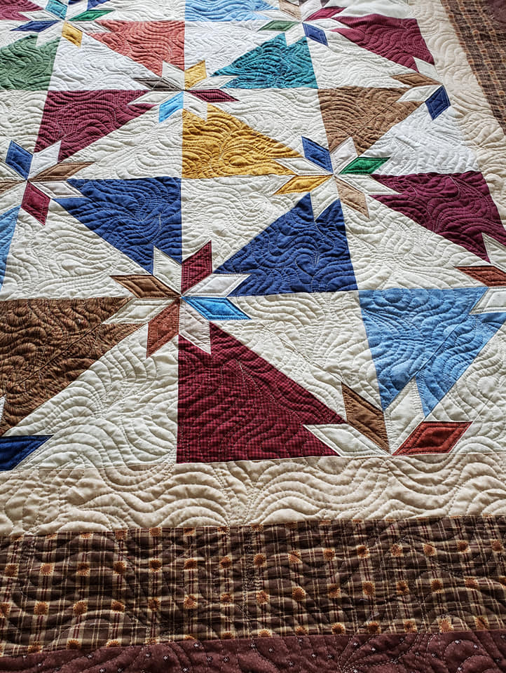 Hunters Star Cabin quilt