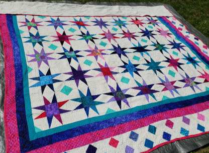 pink and purple quilt for sale