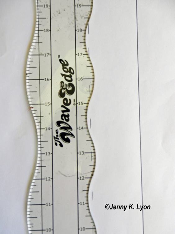 I use a Wave Edge ruler to mark my spines