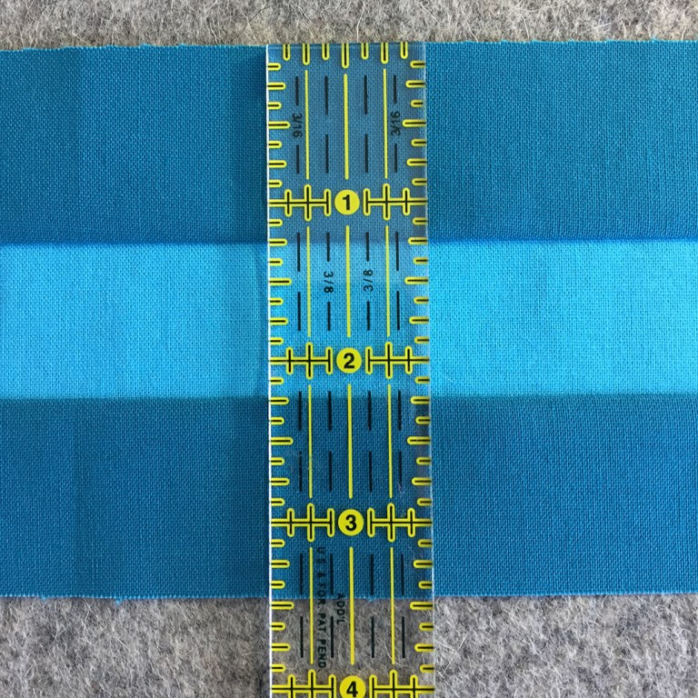 Ruler on completed strip