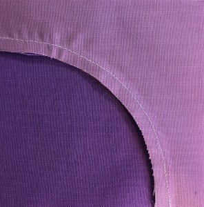 Seam allowance on underside of unit