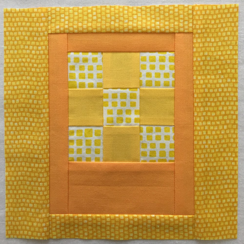 quilt block in yellow